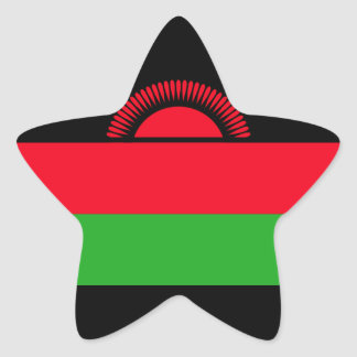 Low Cost! Malawi Flag Star Sticker