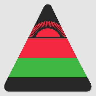 Low Cost! Malawi Flag Triangle Sticker