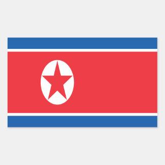 Low Cost! North Korea Flag Rectangular Sticker