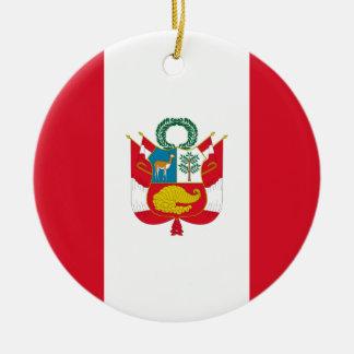 Low Cost! Peru Flag Christmas Ornament