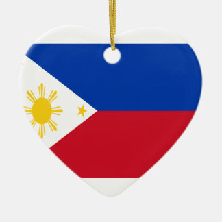 Low Cost! Philippines Flag Ceramic Heart Decoration