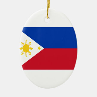 Low Cost! Philippines Flag Ceramic Oval Decoration