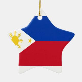 Low Cost! Philippines Flag Ceramic Star Decoration