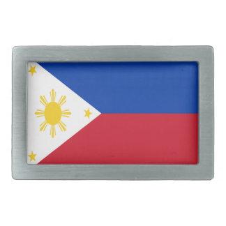 Low Cost! Philippines Flag Rectangular Belt Buckles