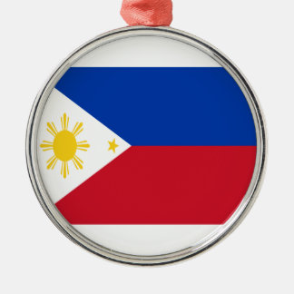 Low Cost! Philippines Flag Silver-Colored Round Decoration