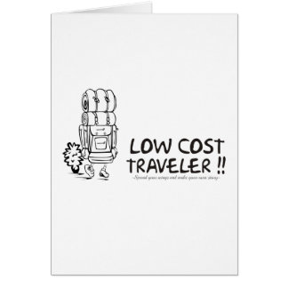 Low Cost Traveler Greeting Card