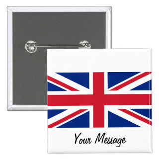 Low Cost Union Jack Flag Badge Name Tag Buttons