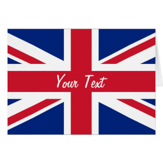 Low Cost Union Jack Flag of Great Britain Card