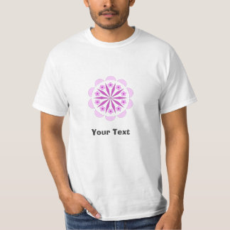 Low Cost Value T-Shirt White with Pattern