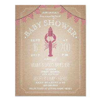 Low Country Boil Cardstock Girl Baby Shower Bottle 11 Cm X 14 Cm Invitation Card
