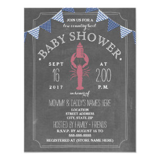 Low Country Boil Co Ed Baby Shower 11 Cm X 14 Cm Invitation Card