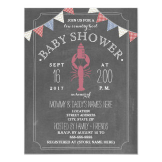 Low Country Boil Co Ed Unisex Baby Shower - Bottle 11 Cm X 14 Cm Invitation Card