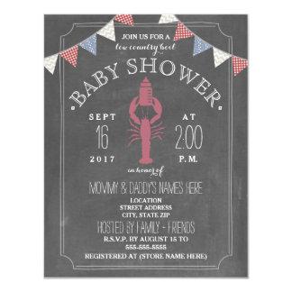 Low Country Boil Co Ed Unisex Baby Shower - Bottle 11 Cm X 14 Cm Invitation Card