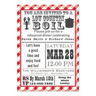 Low Country Boil Rehearsal Dinner Party Invitation