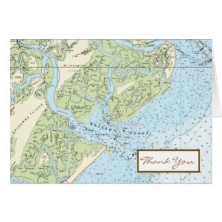 Low Country Chart Folded Note Card