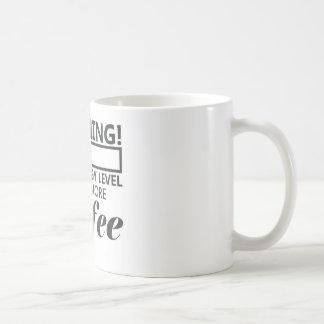 Low energy level basic white mug