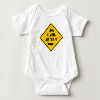 Low Flying Aircraft - Traffic Sign Baby Bodysuit