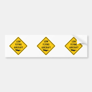 Low Flying Aircraft - Traffic Sign Bumper Sticker