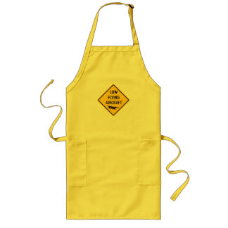 Low Flying Aircraft - Traffic Sign Long Apron
