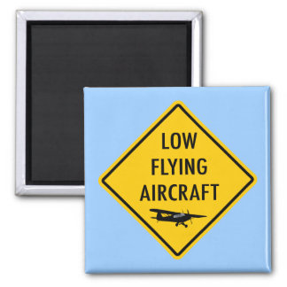 Low Flying Aircraft - Traffic Sign Fridge Magnet