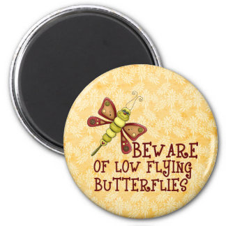 Low Flying Butterflies 6 Cm Round Magnet
