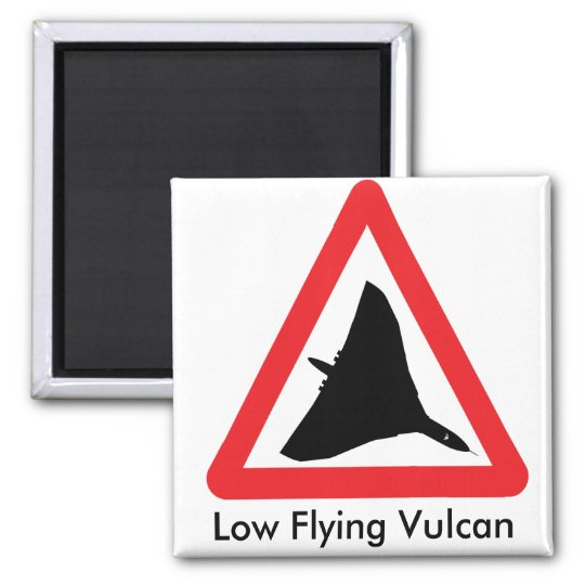 Low Flying Vulcan Magnet. Square Magnet