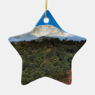 Low Fog and Snow Christmas Ornament