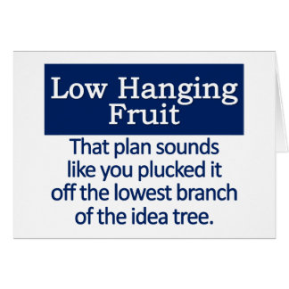 Low Hanging Fruit Mousepad Note Card