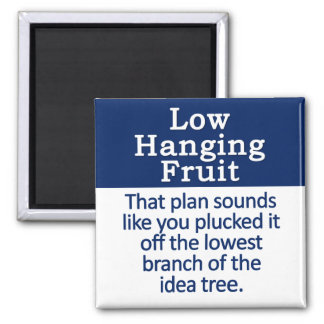 Low Hanging Fruit Square Magnet