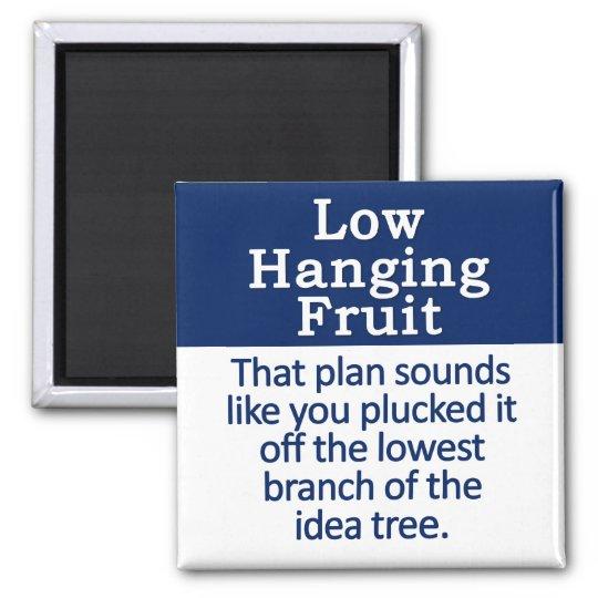 Low Hanging Fruit Square Magnet