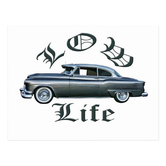 low life lowrider 50's Oldsmobile custom Postcard