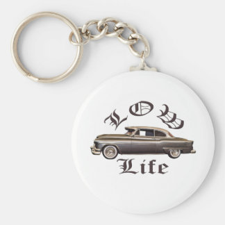 Low Life Oldsmobile Lowrider Basic Round Button Key Ring