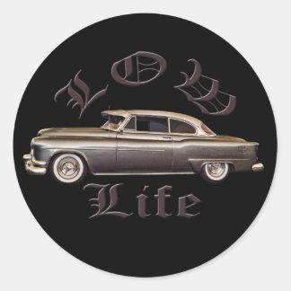 Low Life Oldsmobile Lowrider black Round Sticker