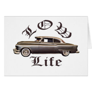 Low Life Oldsmobile Lowrider Greeting Cards