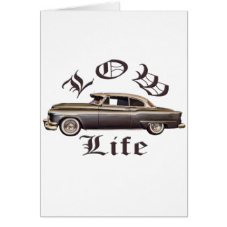 Low Life Oldsmobile Lowrider Greeting Card