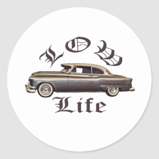 Low Life Oldsmobile Lowrider Round Sticker