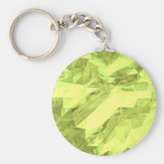 Low poly abstract basic round button key ring
