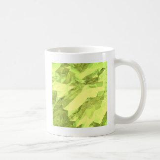 Low poly abstract basic white mug