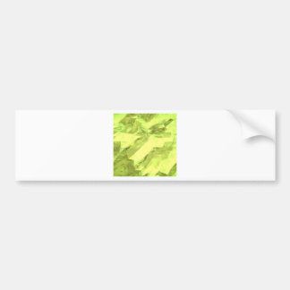 Low poly abstract bumper sticker