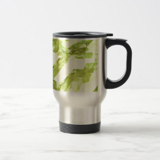 Low poly abstract stainless steel travel mug