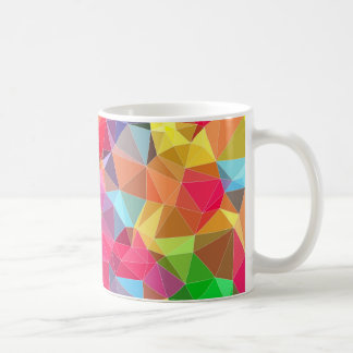 low poly background abstract pattern bright colors basic white mug