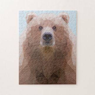 Low poly bear puzzle