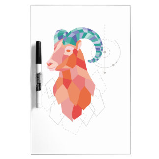 Low Poly Big Horned Sheep Dry Erase Board
