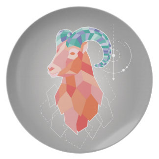 Low Poly Big Horned Sheep Plate