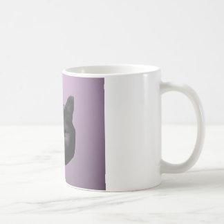 Low Poly Black Cat Basic White Mug