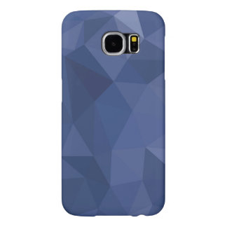 Low-Poly Blue Samsung Galaxy S6 Cases
