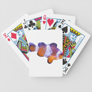 Low Poly Clown Fish Bicycle Playing Cards