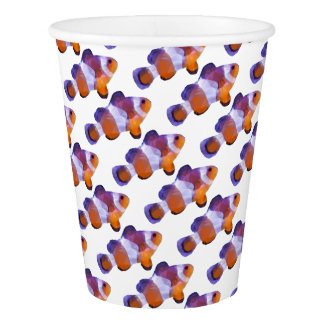 Low Poly Clown Fish Paper Cup