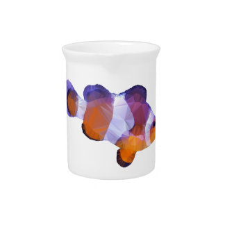 Low Poly Clown Fish Pitcher