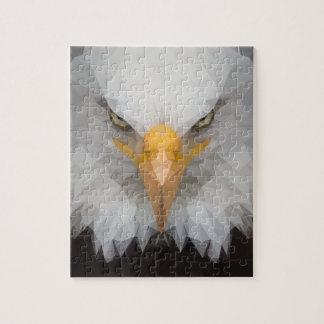 Low poly eagle puzzle